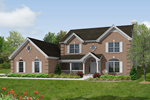 Early American House Plan Front Image - 007D-0047 | House Plans and More