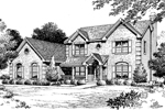 Early American House Plan Front Image of House - 007D-0047 | House Plans and More