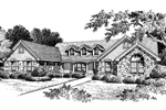 Mountain Home Plan Front Image of House - 007D-0048 | House Plans and More