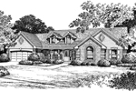 Greek Revival Home Plan Front Image of House - 007D-0049 | House Plans and More