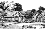 Greek Revival Home Plan Front Image of House - 007D-0050 | House Plans and More