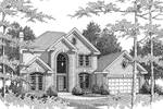 Traditional House Plan Front Image of House - 007D-0051 | House Plans and More