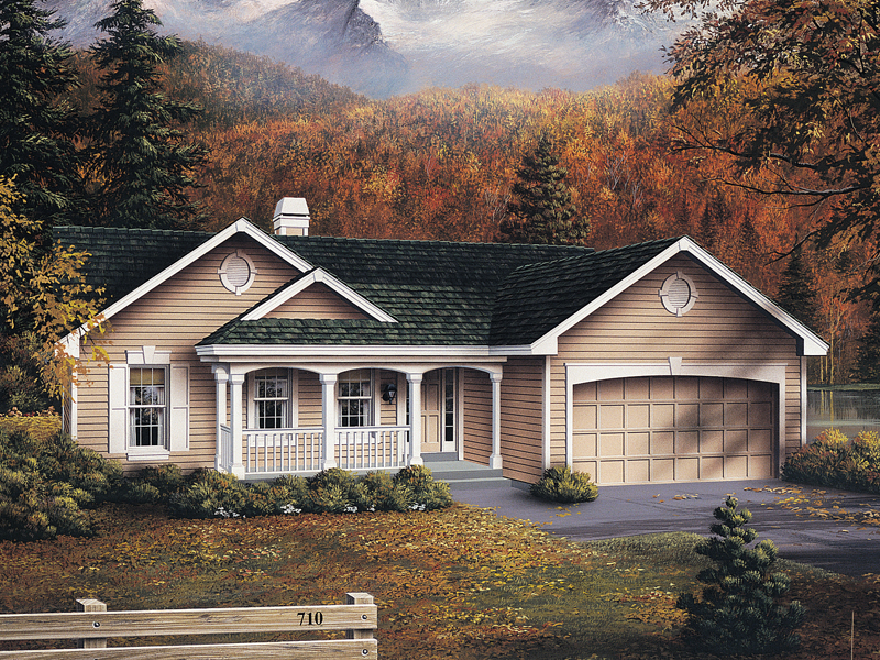 Traditional House Plan Front of Home 007D-0053