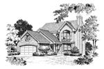 Traditional House Plan Front Image of House - 007D-0054 | House Plans and More
