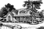 Bungalow House Plan Front Image of House - 007D-0055 | House Plans and More