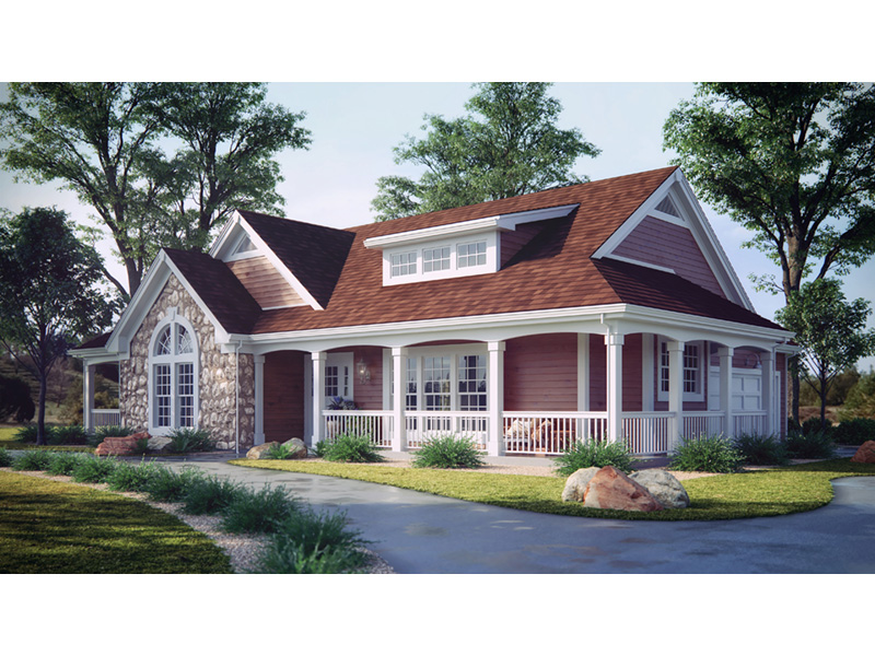 Farmhouse Plan Front Photo 01 - 007D-0055 | House Plans and More