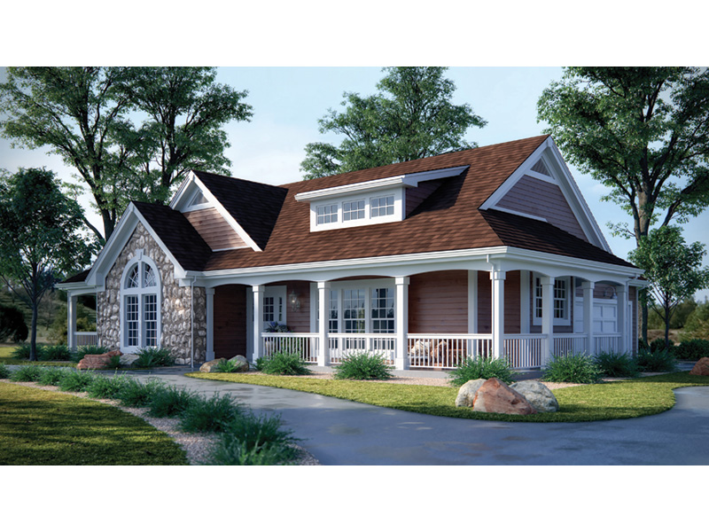 Farmhouse Plan Front Photo 02 - 007D-0055 | House Plans and More
