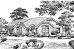 Tudor House Plan Front Image of House - 007D-0056 | House Plans and More