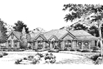 Ranch House Plan Front Image of House - 007D-0057 | House Plans and More