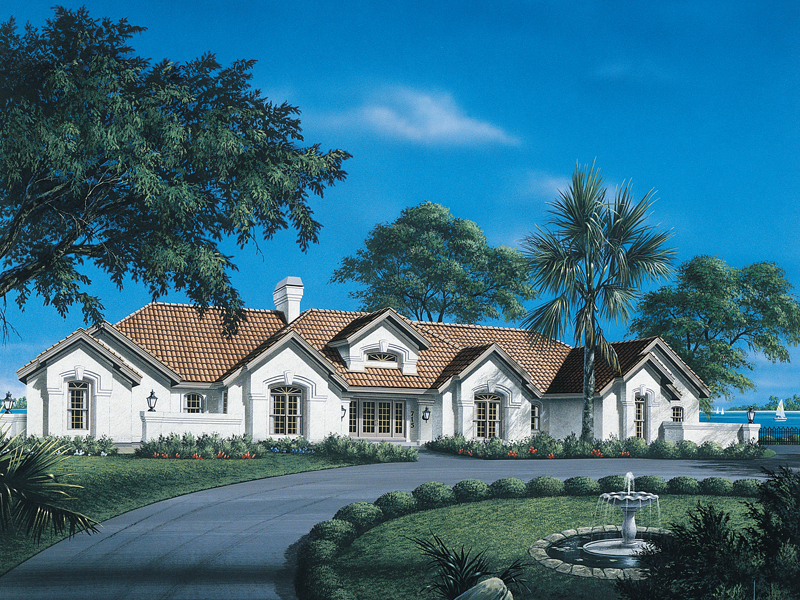 Southwestern House Plan Front of Home 007D-0058