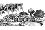Ranch House Plan Front Image of House - 007D-0058 | House Plans and More