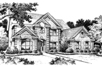 Georgian House Plan Front Image of House - 007D-0059 | House Plans and More