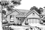Ranch House Plan Front Image of House - 007D-0060 | House Plans and More