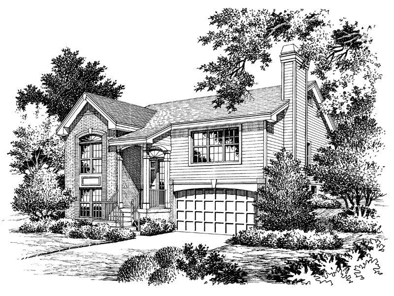 Traditional House Plan Front Image of House - 007D-0061 | House Plans and More