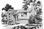 Neoclassical Home Plan Front Image of House - 007D-0061 | House Plans and More