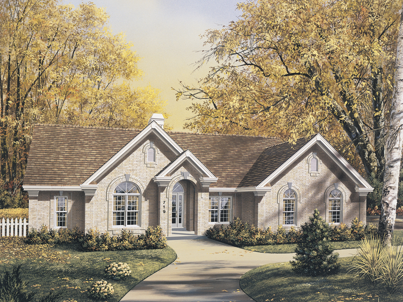 Ranch House Plan Front Image 007D-0062
