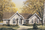 Ranch House Plan Front Image - 007D-0062 | House Plans and More