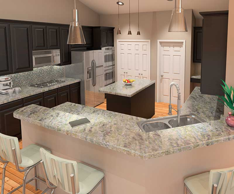 Ranch House Plan Kitchen Photo 01 007D-0062