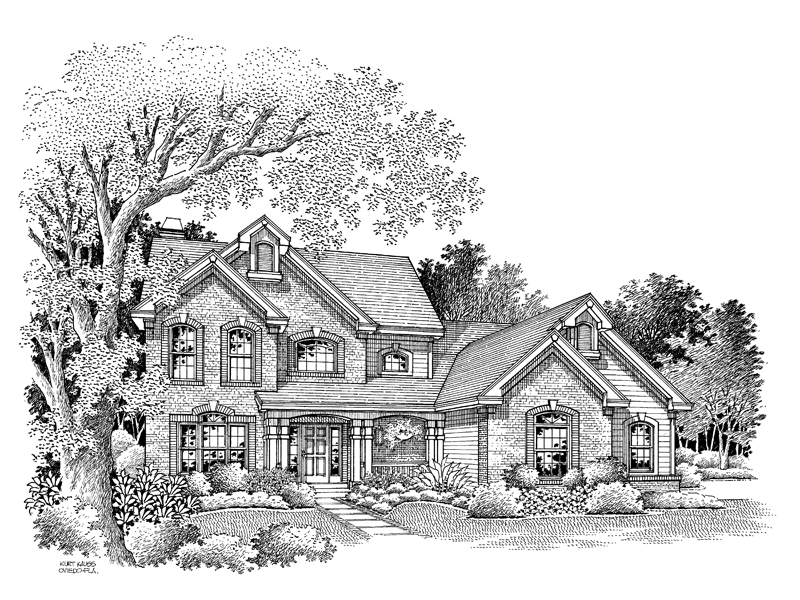 Traditional House Plan Front Image of House 007D-0063
