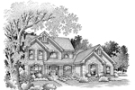 Traditional House Plan Front Image of House - 007D-0063 | House Plans and More