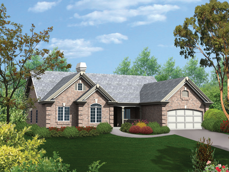 Ranch House Plan Front of Home 007D-0065