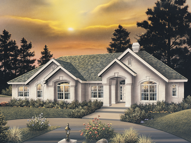 Ranch House Plan Front of Home 007D-0066