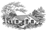 Sunbelt Home Plan Front Image of House - 007D-0066 | House Plans and More