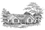 Ranch House Plan Front Image of House - 007D-0067 | House Plans and More