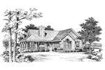 Lake House Plan Front Image of House - 007D-0068 | House Plans and More