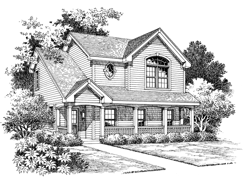 Country House Plan Front Image of House - 007D-0070 | House Plans and More
