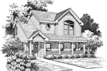 Traditional House Plan Front Image of House - 007D-0070 | House Plans and More