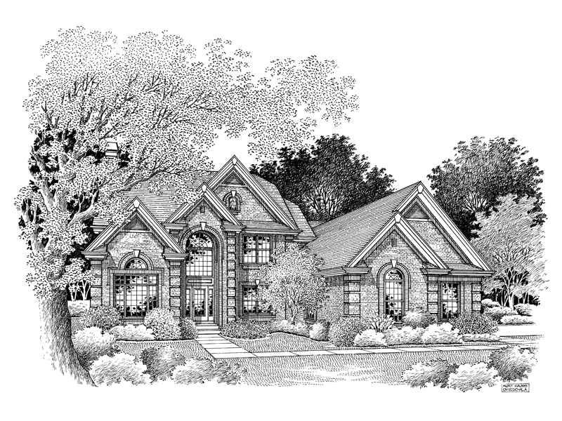 Traditional House Plan Front Image of House - 007D-0071 | House Plans and More