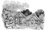 Greek Revival Home Plan Front Image of House - 007D-0071 | House Plans and More