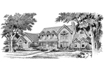 Southern House Plan Front Image of House - 007D-0072 | House Plans and More