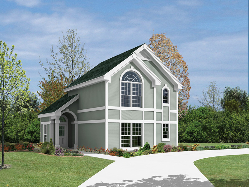 Colonial House Plan Front of Home 007D-0073