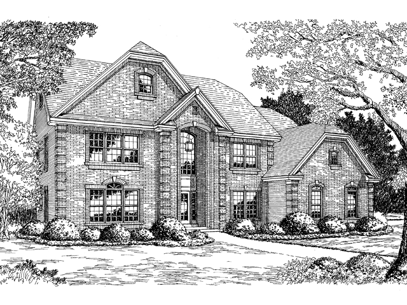 Colonial House Plan Front Image of House - 007D-0074 | House Plans and More