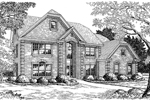 Country French Home Plan Front Image of House - 007D-0074 | House Plans and More