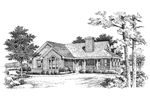 Waterfront Home Plan Front Image of House - 007D-0075 | House Plans and More