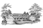 Traditional House Plan Front Image of House - 007D-0076 | House Plans and More