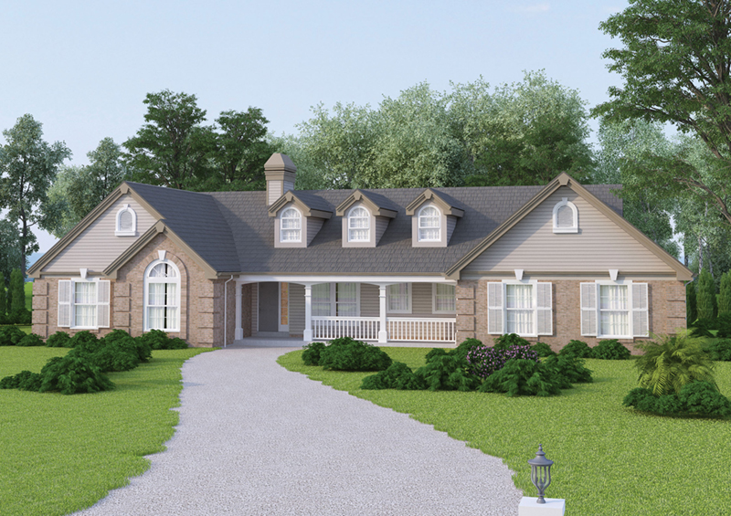 Traditional House Plan Front of Home 007D-0077