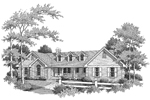 Cape Cod and New England Plan Front Image of House - 007D-0077 | House Plans and More