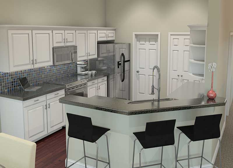 Ranch House Plan Kitchen Photo 01 007D-0077
