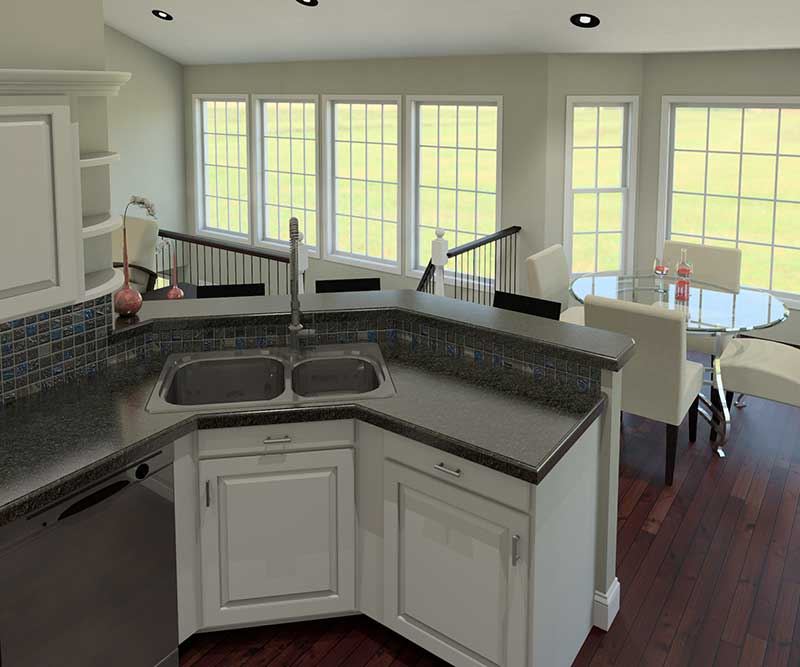 Cape Cod and New England Plan Kitchen Photo 02 007D-0077
