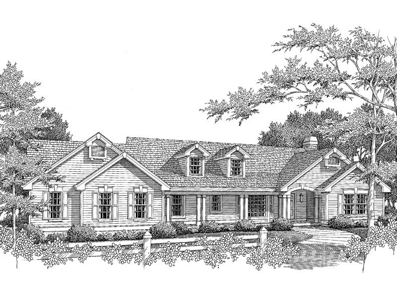 Colonial Floor Plan Front Image of House - 007D-0078 | House Plans and More