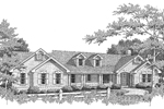 Colonial House Plan Front Image of House - 007D-0078 | House Plans and More