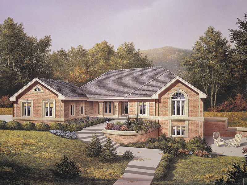 Ranch House Plan Front of Home 007D-0080