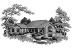 Ranch House Plan Front Image of House - 007D-0080 | House Plans and More