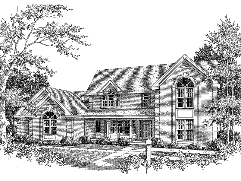 Greek Revival Home Plan Front Image of House - 007D-0082 | House Plans and More