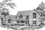Greek Revival House Plan Front Image of House - 007D-0082 | House Plans and More