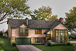 Lake House Plan Front Image - 007D-0083 | House Plans and More